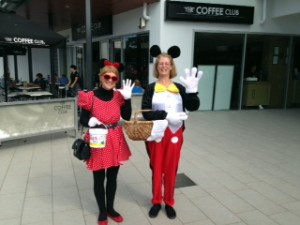 Mickey & Mini Mouse collecting for GM5FK.
