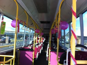 Inside the State of Origin Bus.